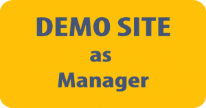 login op de demo site TSMS als manager